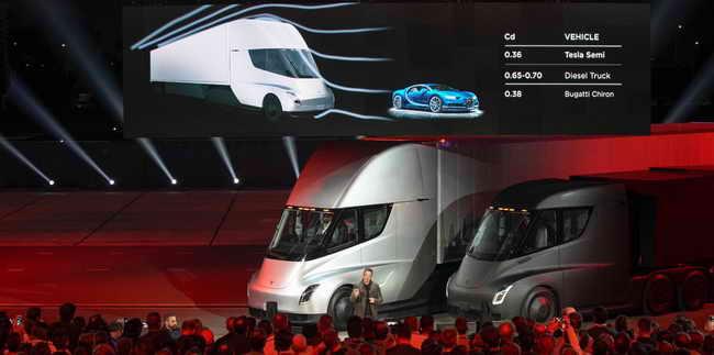 Электро грузовик Tesla Semi Truck