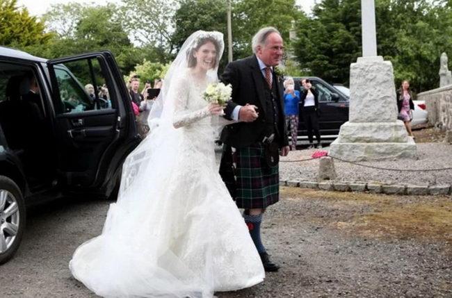 Невеста Роуз Лесли с отцом