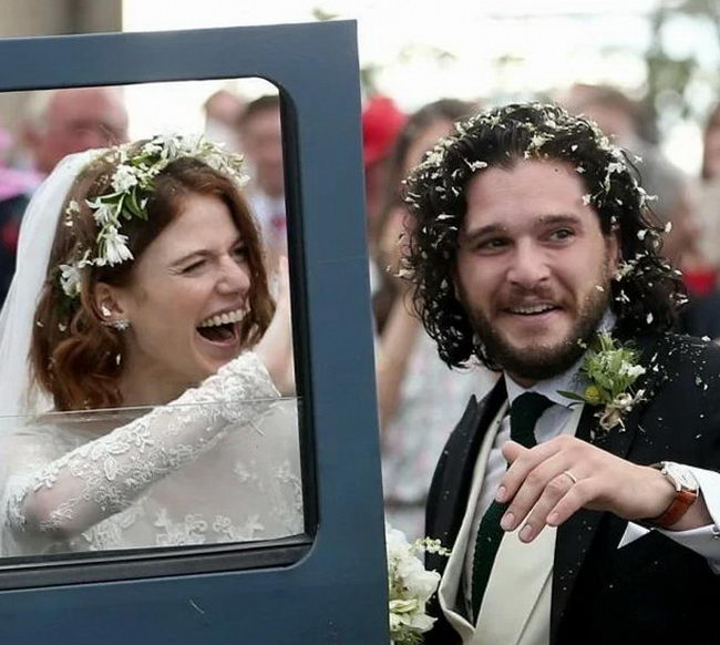 Джон Сноу женился на одичалой Роуз Лесли