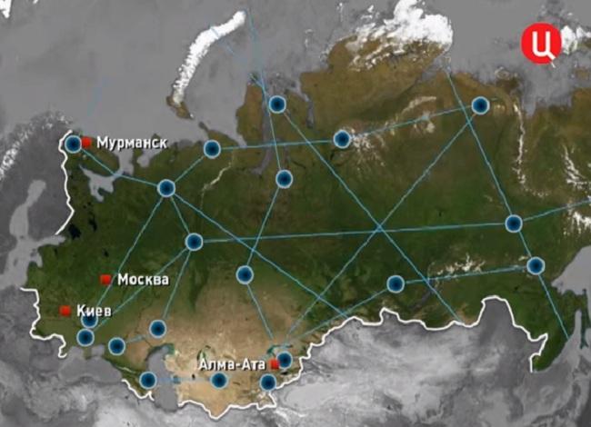 Кольская сверхглубокая и линии связи между скважинами