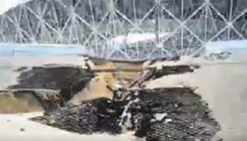 В Волгограде стадион чемпионата мира уплыл вместе с дождем