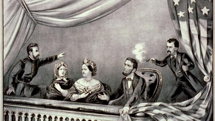 Авраам Линкольн убит выстрелом в затылок