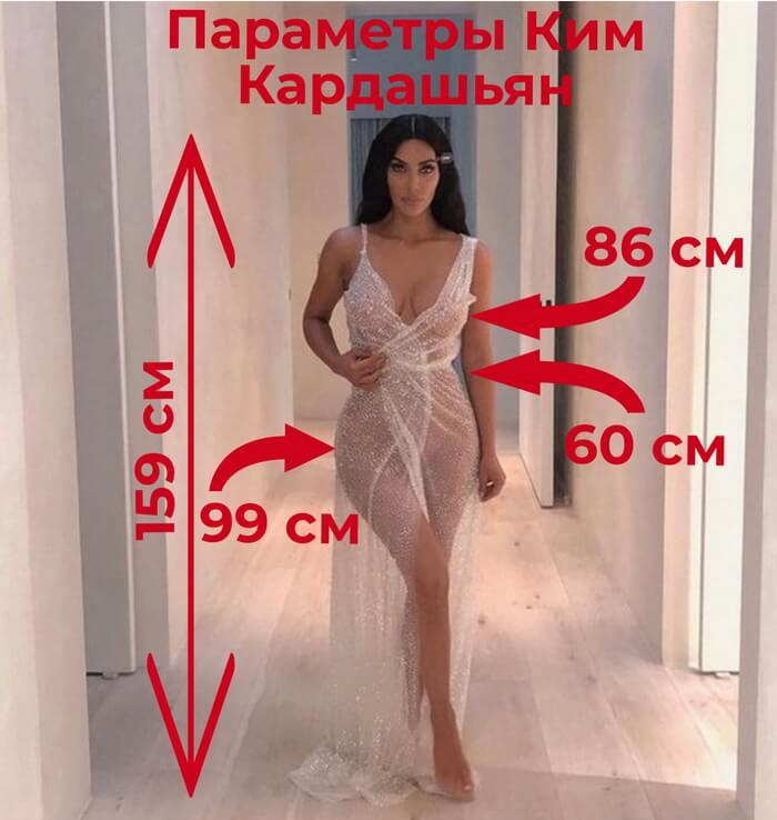 Параметры Ким Кардашян