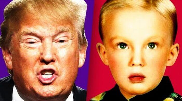 Дональд Трамп ребенком