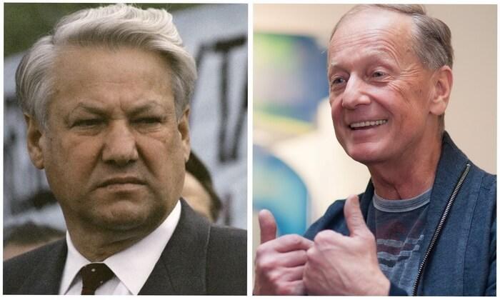 Борис Ельцин и Михаил Задорнов