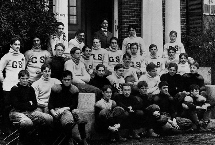 Франклин Рузвельт с футбольной командой