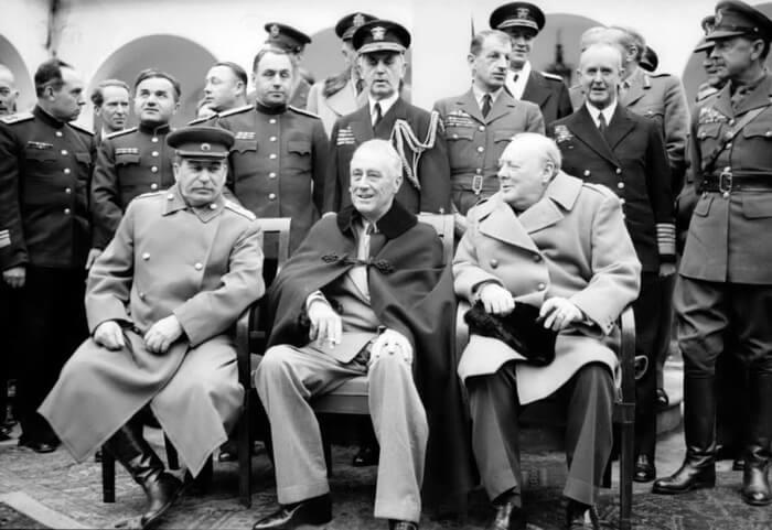 Франклин Рузвельт, Иосиф Сталин и Уинстон Черчилль