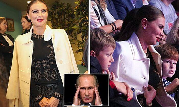 Алина Кабаева с детьми Путина