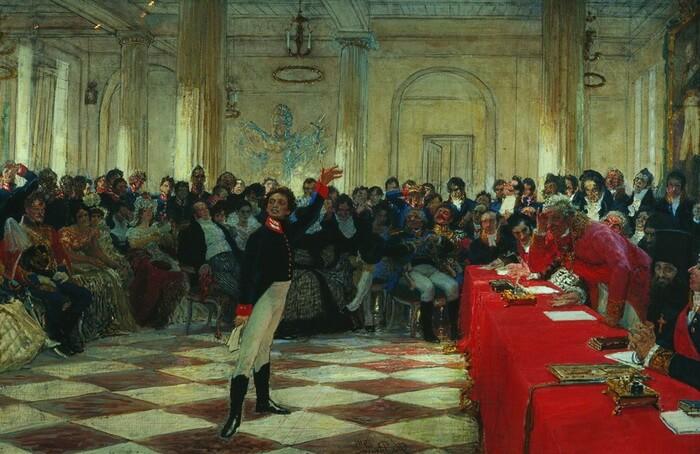 Пушкин во время учебы
