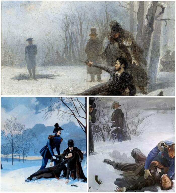 Александр Пушкин и Жорж Шарль Дантес