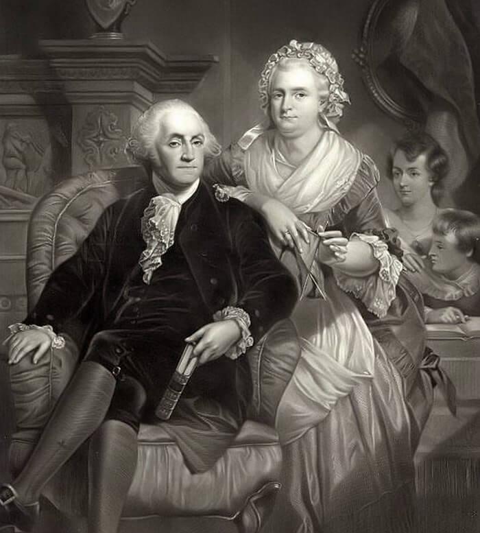 Джордж Вашингтон и Марте Кастис