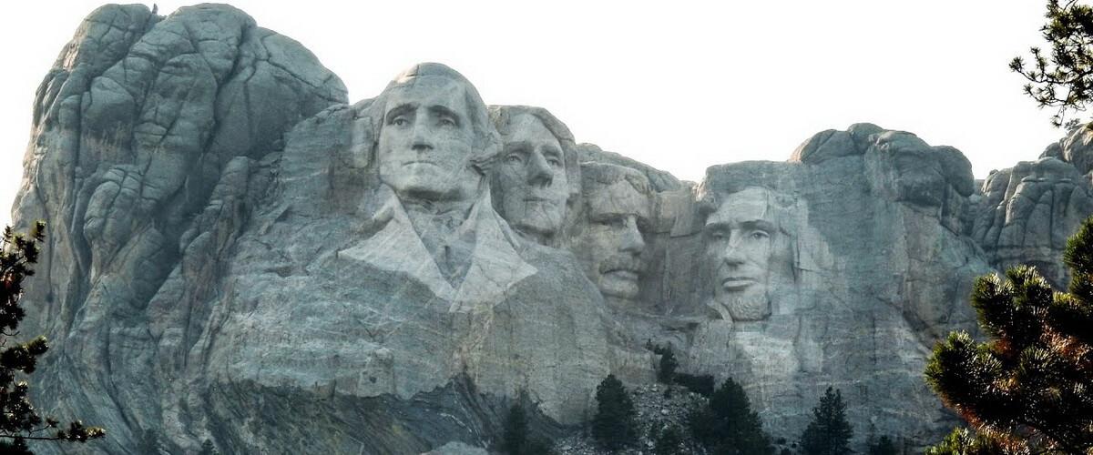 Какие президенты изображены на горе Рашмор