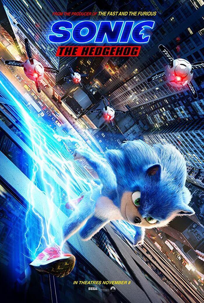 Постер Соник в кино