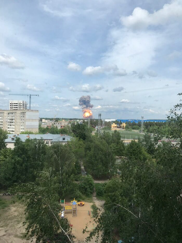 Момент взрыва в Дзержинске