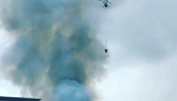 Видео пожара в районе Павелецкого вокзала на улице Дубининской
