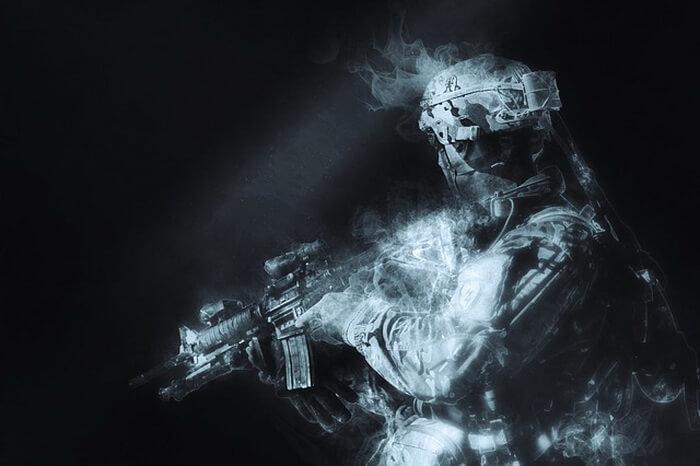 Военный в зоне ООС