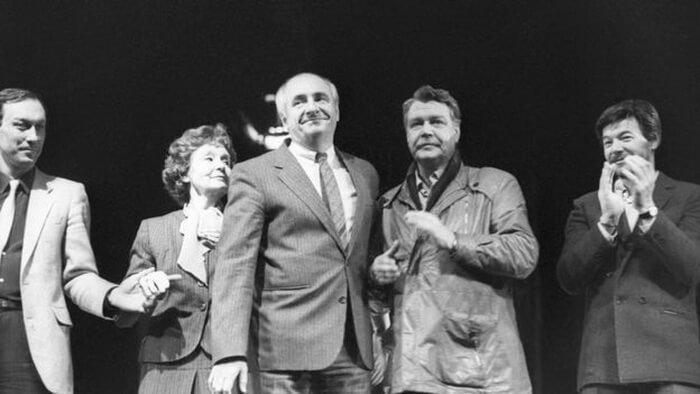 Марк Захаров на сцене театра