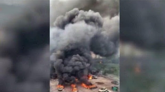 Взрыв цистерны с газом в Китае привел к гибели 19 человек