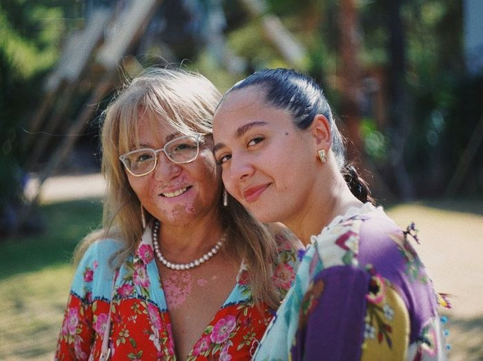Манижа Сангин с мамой
