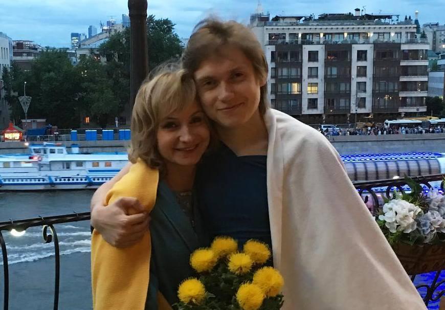 Ольга Прокофьева с сыном Александром